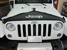 Front Hood Cover T Style With Logo For for 2007 - 2016 Jeep Wrangler JK 2/4 door