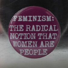 PURPLE FEMINISM RADICAL NOTION  25mm Pin Button Badge pussy riot FEMINIST PUNK