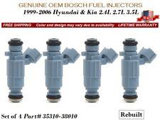 4X Fuel Injectors OEM Bosch for 2001-2006 Hyundai Santa Fe 2.4L #35310-38010