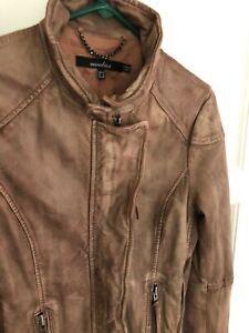 Muubaa SOFT  Leather Women's Jacket Size 6 Rust MO 169 Full Zipped/Pockets
