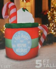 Holiday Time Airblown Inflatable Cocoa Mug 5ft Tall Lighted IndoorOutdoor