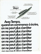 Publicité Advertising 088  1970  stylo feutre nylon Tempo *
