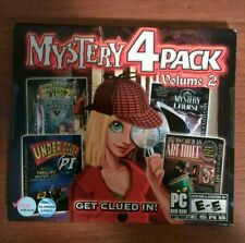 MYSTERY 4 PACK VOLUME 2 (PC Games, 2010) DVD-ROM 4 hidden objects games