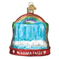 """""""Niagara Falls"""" (36268)X Old World Christmas Glass Ornament w/ OWC Box"""