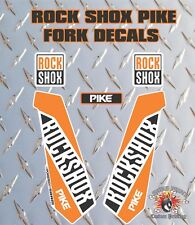 ROCK SHOX PIKE FORK Adesivi Decalcomanie Grafiche mountain bike Down Hill MTB Arancione