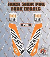 ROCK SHOX PIKE  FORK Stickers Decals Graphics Mountain Bike Down Hill MTB orange