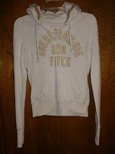 Abercrombie and Fitch Women's Junior Sweat Shirt Sweatshirt Hoodie Cream SZ M