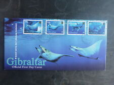 GIBRALTAR 2006 MANTA RAY SET 4 STAMPS FDC FIRST DAY COVER