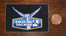 Hook & Tackle Fishing Fly Fish Tail Logo Sticker Decal Black Car Yeti Bottle