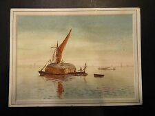 Homemade House Boat Victorian Trade Card