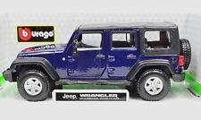 Jeep Wrangler Unlimited Rubicon dunkelblau Maßstab 1:32 von bburago