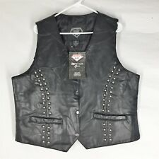 DIAMOND PLATE LEATHER JACKET NEW WITH TAGS XL Womens Vest Comfort Great Design