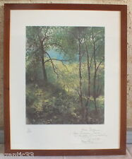 Lithography of René Pinon 38/100 Hand Signed & #'D Autographed