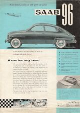 Saab 96 2-Stroke 1960-62 UK Market Single Sheet Sales Brochure