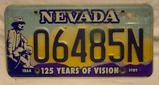 1989 Nevada 125 Years of Vision License Plate