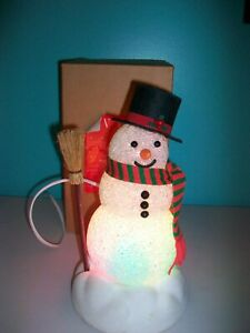 VINTAGE AVON CHILLY AM LIGHT-UP SNOWMAN WITH BOX - WORKS!!