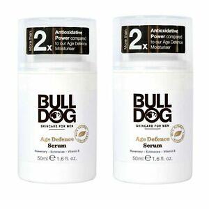 2 x Bulldog Skincare Age Defence Serum for Men 2 x 50 ml. New. Free postage