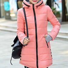 Women Jacket Winter Long Down Warm Jacket Padded Coat Ladies Slim Hooded Parka