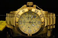 Invicta Men Excursion 50MM Swiss Movt 18K Gold Plated Chrono S.S Bracelet Watch