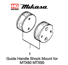 Shock Mount with Pin (1 pc) for Multiquip Mikasa Mtx80 Mtx90 Rammers 366346270