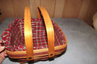 Vintage Longaberger Christmas Collection 1993 Edition Bayberry Basket w/ Liners