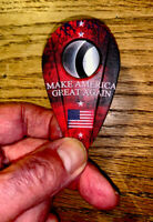 """XIKAR CIGAR CUTTER""MAKE AMERICA GREAT AGAIN""-  DOUBLE GUILLOTINE-NEW- USA FLAG"
