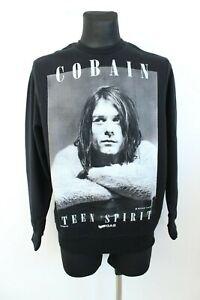 GAS Kurt Cobain Photo by Michael Lavine BNWT Black Long Sleeve Sweater Size M
