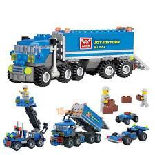 163pcs Child Kids Educational Dumper Puzzle Car Truck Building Block Set DIY Toy