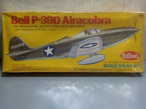 Guillows 1/12 Scale Bell P-39D Airacobra Balsa Flying Kit #806 Factory Sealed