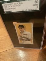 1909 T206 SGC 30 Certified Ghost Image-Jack Warhop very rare T206 card ...1 of 1