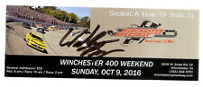 2016 WILLIAM BYRON signed WINCHESTER 400 TICKET STUB NASCAR ARCA CRA RACING