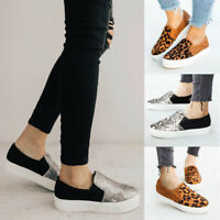 Womens Platform Espadrilles Pumps Casual Slip On Comfy Loafers Shoes Sneakers