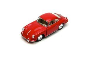 """5"""" Kinsmart Porsche 356 B Carrera 2 Diecast Model Toy Car 1:32 Red"""