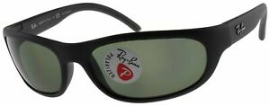 Ray Ban Predator Polarized Sunglasses RB4033 601S48 Matte Black W/ G-15 Green