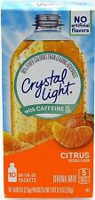 50 10-Packet Boxes Crystal Light Citrus With Caffeine On The Go Drink Mix