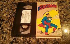SUPERMAN RARE VHS TAPE! TRANS-ATLANTIC VIDEO TV ANIMATED CLASSIC!