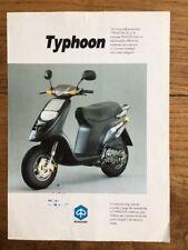 Brochure Scooter PIAGGIO TYPHOON 1992
