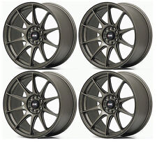 "XXR 527 18"" 8.75J ET20 5x114.3 5x100 FLAT BRONZE WIDE RIMS ALLOYS WHEELS Z1665"
