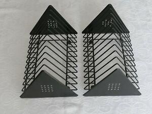 Storage racks (X 2) for DVD, Blu Ray & CD's - Modern black metal design.