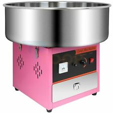 Electric Large Commercial Cotton Candy Machine Sugar Floss Maker Pink Carnival