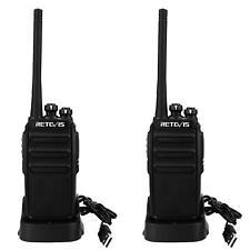 2pcs Walkie Talkie UHF 16CH Retevis RT24  Amateur Radio USB Charger Rehargeable