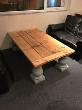 Huge Rustic Pine Shabby Chic - Vintage Coffee Table - Country Cottage - Solid