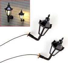 10 pcs Model Railway 3V LED Lamppost Lamps Wall Lights HO Scale 1:100 #BD4