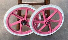 "Pink Skyway 20"" Mags Freestyle BMX Suntour Freewheel Kenda Tires Haro/GT/hutch"