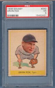 1938 Goudey #242 Ervin Fox (15452421) PSA 5