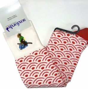 """Soxfords Men's Novelty Pima Socks """"Seigaiha"""" Men's 8-12 Women's 10+ Japanese"""
