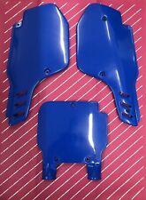 Kx 125 250 1989 Side Panels Cover Front Plate Blue Ufo Kawasaki