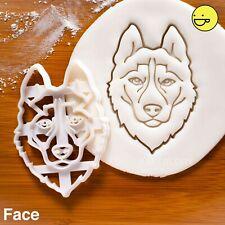 Husky Face cookie cutter |pet dog portrait adoption vet gift Veterinary siberian