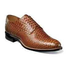 Stacy Adams Madison Anaconda Print Leather Men's Shoe Tan Dressy 00055-240