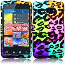 Kyocera Event C5133 Rubberized HARD Protector Phone Case Cover Colorful Leopard